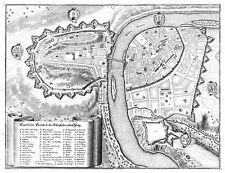 MAP ANTIQUE MERIAN 1650 PRAGUE CITY PLAN OLD LARGE REPLICA POSTER PRINT PAM1091
