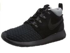 Nike Rosherun Mid Men Sneakers Black/Silver 615601-002 Size 8 UK 42.5 EUR 9 USA