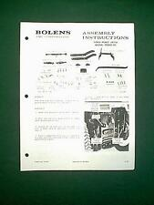 BOLENS TRACTOR THREE POINT HITCH MODEL 19200-01 ATTACHMENT ASSEMBLY MANUAL 1/73