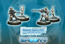 Infinity Corvus Belli Atalanta and Spotbot Aleph Army blister metal new