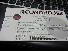 The Script ticket, Roundhouse, London, February 2009, unused