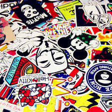 50 Skateboard Vintage Vinyl Laptop Luggage Car Decals Dope Stickers Mix Lot !
