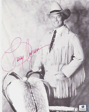 Larry Hagman Autographed 8x10 BW Photo W/Global COA-I Dream of Jeannie-DALLAS