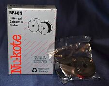 "NU-KOTE BR80N Universal Calculator Ribbon New in Box Black/Red 1/2"" by 19.03 ft"