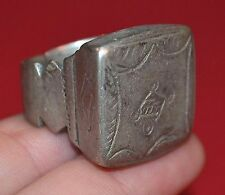 Large Antique Heavy Tuareg Ethnic Coin Silver Ring From Niger Africa Ring Size 8