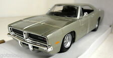 Maisto 1/24 Scale 31256 1969 Dodge Charger R/T Silver Diecast model car