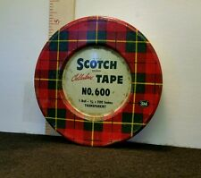 Vintage Scotch Tape No. 600 Collectable Tin/Canister