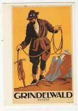 Grindelwald Suisse Poster Type 1989 Repro Postcard 866a