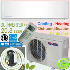 PIONEER 18000 BTU 21 SEER Inverter++ Ductless Mini Split Heat Pump Plus 10' Kit