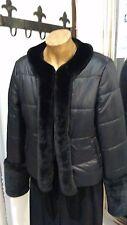 PARAH Piumino Donna Corto Nero con pelo sintetico Black Taglia L (443)