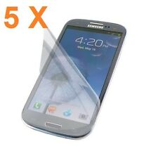 5 X High Quality Ultra Clear Screen Protector for New Samsung Galaxy S3