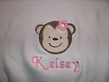 Personalized Baby Infant Toddler Blanket Jungle Jill Girl Monkey Safari Any Colo