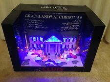 Graceland  at Christmas Porcelain Lighted Musical Elvis Presley Brand New