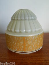 Stunning Art Deco Wall/ Lamp Shade Soft Beige with Orange Design Pretty