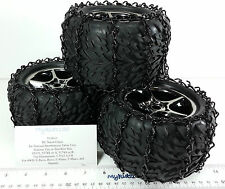 4 Black 1/10 RC Snow Chain Traxxas Talon Tire 5370 5374 5174 E-Revo EMaxx Summit