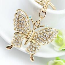 Accessories Rhinestone Key Ring Butterfly Key Chain Key Chains Fashion Jewelry
