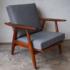 Hans Wegner Getama Oak Cigar Lounge Chair Danish Modern