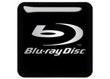 "Blu-ray Disc 1""x1"" Chrome Domed Case Badge / Sticker Logo"