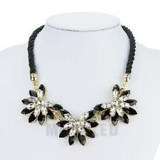 Fashion Jewelry Pendant Chain Crystal Choker Chunky Statement Bib Necklace