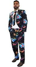 New Mens Christmas Fancy Dress Novelty Print Deluxe Festive Costumes Casual Suit