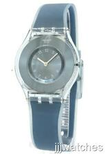 New Swiss Swatch Skin Dive-In Blue Silicone Band Watch 35mm SFS103 $110