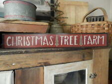 PriMiTiVe ~ ChRisTmaS TrEe FarM ~ HandPainTeD  WooDen SigN ~ EaRLy LooK ~ LOVe
