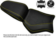GRIP CARBON YELLOW ST CUSTOM FITS YAMAHA MT 03 06-14 FRONT + REAR SEAT COVER