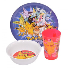 POKEMON 3 PIECE DINNERWARE SET CUP PLATE BOWL PIKACHU GO NEW GIFT