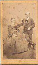 Franz Zaitz CDV photo Feines Paar - Wien 1870er