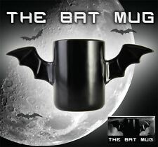 The Bat Mug Ceramic Tea & Coffee Cup with Bat Wing Handles Superhero Office Gift
