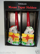 Vintage Robert Alan Candle Company Christmas Mice  Candles & Candle Holders New!