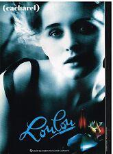 Publicité Advertising 1989 Parfum Loulou par Cacharel de Sarah Moon