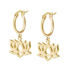 Daisy London Jewellery NEW! 18ct Gold Plated Lotus Good Karma Drop Earrings