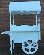 Sweet cart  For Sale, Fully Collapsable Sweet Cart , Heart Wheels, Turned Legs