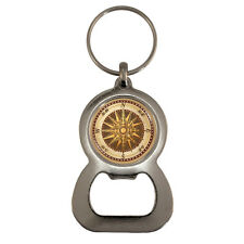 Vintage Style Compass Bottle Opener Keyring Victorian Steampunk Nautical Map NEW