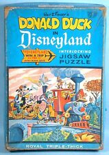1960 Win a Trip to Disneyland TWA Contest Puzzle w/Unused Entry Form Donald Duck