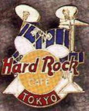 Hard Rock Cafe TOKYO 1990's Blue DRUM Kit PIN DRUMS Boxed 3LC HRC Catalog #10053