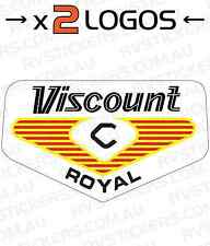 2x VISCOUNT 1970s ROYAL LOGO vintage Caravan decal