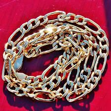 "Italian vintage 10k yellow gold 18.0"" figaro link chain necklace 7.3gr"
