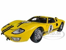 1966 FORD GT-40 MK 2 YELLOW #8 DIECAST CAR MODEL 1/18 SHELBY COLLECTIBLES SC417