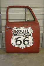 1950 Chevy Pickup Door Route 66 Mother Road Hand Painted Sign Man Cave Rat Rod