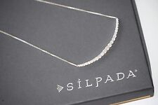 """Silpada NEW Sterling Silver Cubic Zirconia """"Alive"""" Bar Necklace Bridal N2969 NEW"""