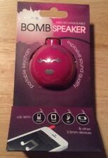 MINI RECHARGEABLE BOMB SPEAKER portable include keychain iphone, mp3,tablets