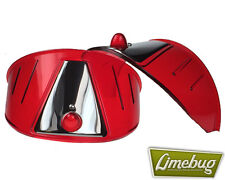Limebug Red Headlight Shield Eye Brow Visor x2 VW Bus Van T1 Beetle Head Light