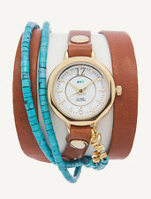 New Mexico WRAP WATCH by La Mer Collections WOMENS Leather Bracelet NEW