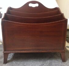 VINTAGE MAHOGANY / Walnut ? Magazine Rack  Inlaid Wood Design