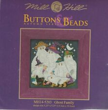 Halloween Ghost Family Mill Hill Beads Cross Stitch Kit