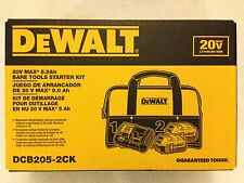 New Dewalt DCB205-2CK 20V Max 5.0Ah Lithium Ion 2 Batteries Charger & Bag NIB