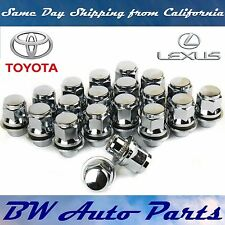 20 PCs TOYOTA-LEXUS OEM/FACTORY STYLE CHROME MAG LUG NUTS WITH WASHERS 12X1.5MM
