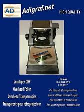 100 FOGLI stampante laser per LAVAGNA LUMINOSA Pellicola OHP Acetato A4